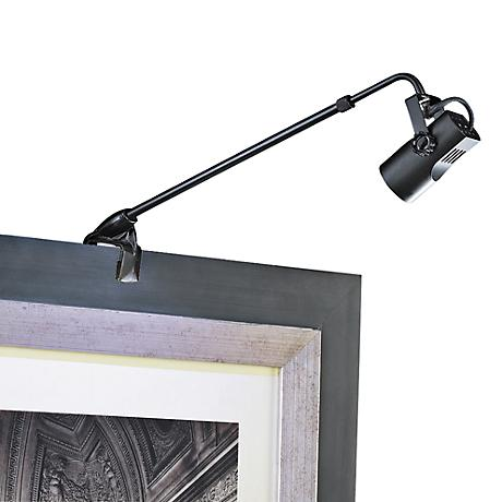 "WAC Clamp Mount 4 1/4"" High Black Adjustable Picture Light"
