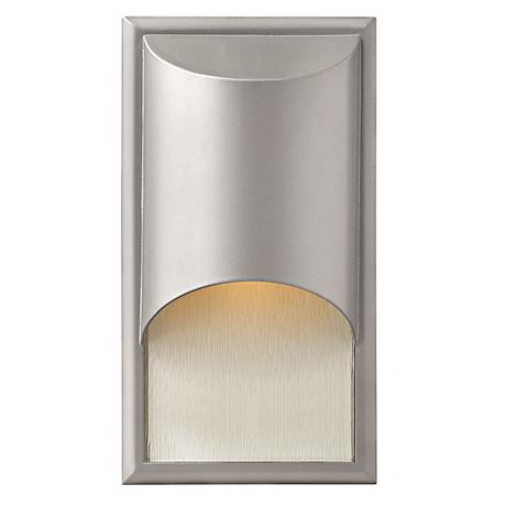 "Hinkley Cascade Titanium 14 1/2"" High Outdoor Wall Light"