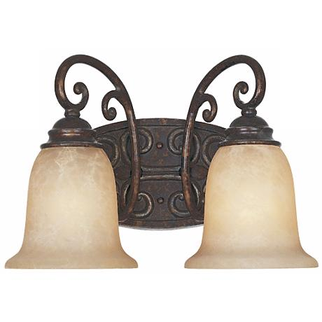 "Amherst Collection Burnt Umber 14"" Wide Bathroom Wall Light"
