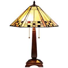 "Mission Tiffany Style 23"" High Table Lamp"