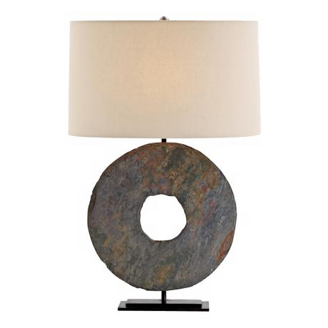 Emerson Slate and Natural Iron Table Lamp