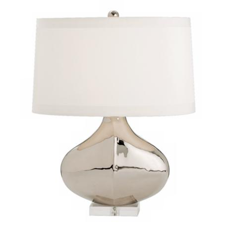 Ebby Polished Nickel Acrylic Table Lamp