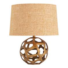 Ennis Antique Brass Web Sphere Table Lamp