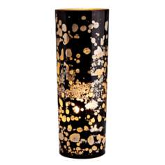 Flynn Black Reactive Glass Accent Lamp