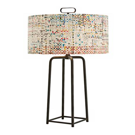Griffith Newsprint Shade Table Lamp