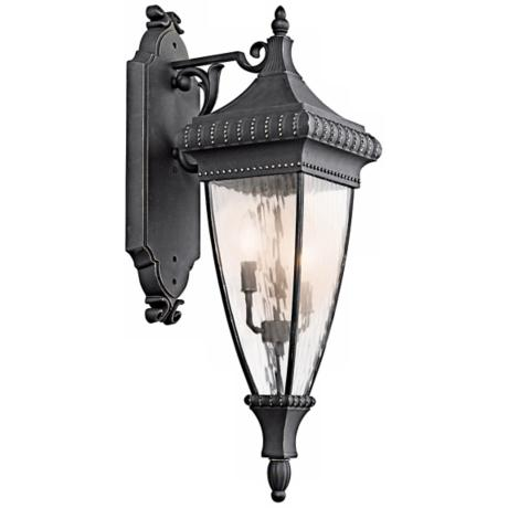"Venetian Rain Black 31"" High Outdoor Wall Light"