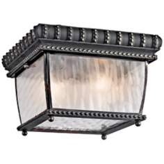 "Venetian Rain Black 9 1/2"" Wide Ceiling Light"
