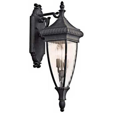 "Venetian Rain Black 25 1/2"" High Outdoor Wall Light"