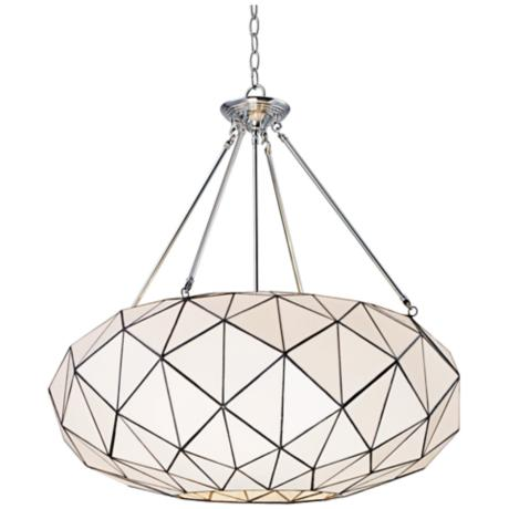 Large faceted Tiffany style chandelier