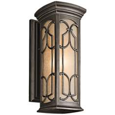 "Franceasi Olde Bronze 18"" High Outdoor Wall Light"