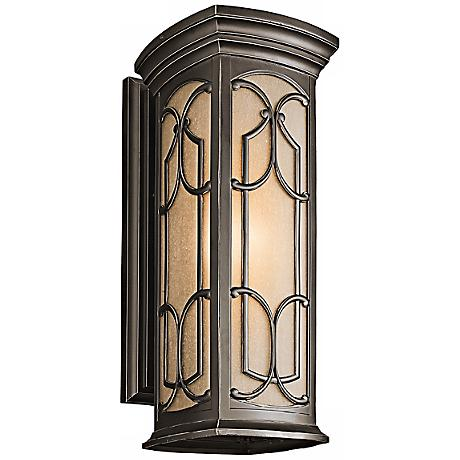 "Franceasi Olde Bronze 22"" High Outdoor Wall Light"