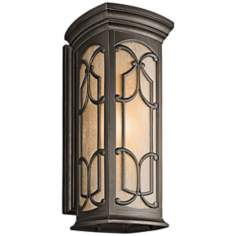 "Franceasi Olde Bronze 25"" High Outdoor Wall Light"