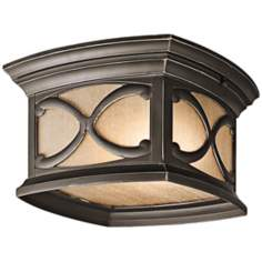 "Franceasi Olde Bronze 11"" Wide Indoor-Outdoor Ceiling Light"