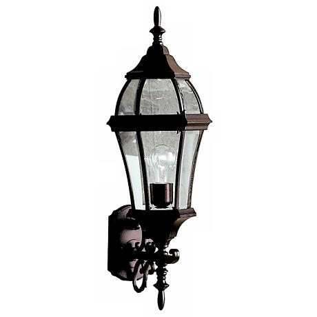 "Townhouse Black 27"" High Outdoor Wall Light"