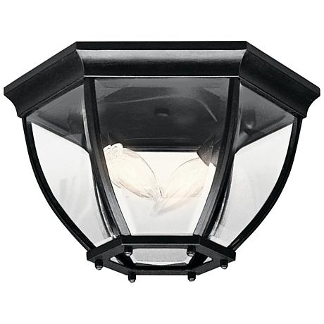 "Townhouse Black 12"" Wide Indoor - Outdoor Ceiling Light"