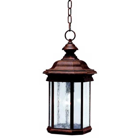 "Kirkwood Tannery Bronze 18"" High Outdoor Hanging Light"
