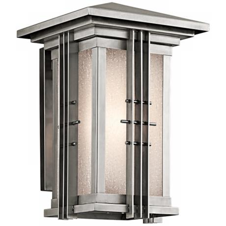 "Portman Square Stainless Steel 14"" High Outdoor Wall Light"
