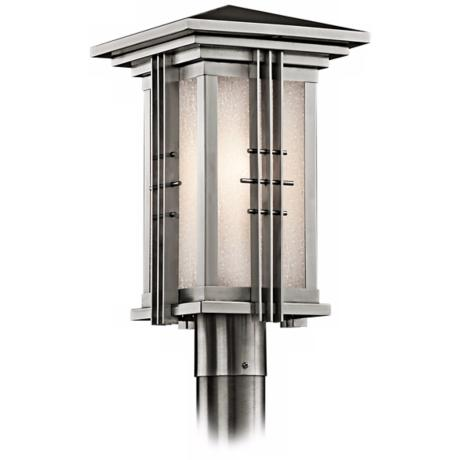 "Kichler Stainless Steel 16 1/2"" High Outdoor Post Light"