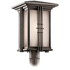 "Portman Square Bronze 18 1/2"" High Outdoor Post Light"