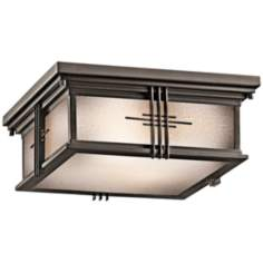 "Portman Square Bronze 12"" Wide Ceiling Light"