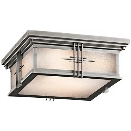 "Kichler Stainless Steel 12"" Wide Ceiling Light"