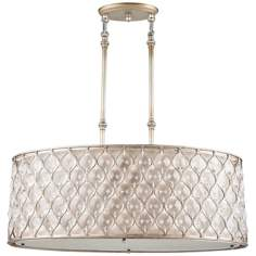 Murray Feiss Lucia Silver Finish Pendant Chandelier