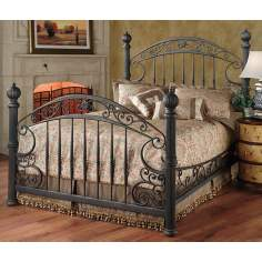 Chesapeake Grills Rustic Old Brown Finish Bed