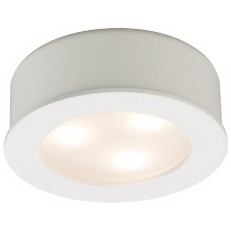 LED WAC 3 Watt White Finish Under Cabinet Button Light