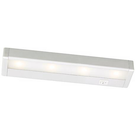 "WAC Satin Nickel LED 12"" Wide Under Cabinet Light Bar"