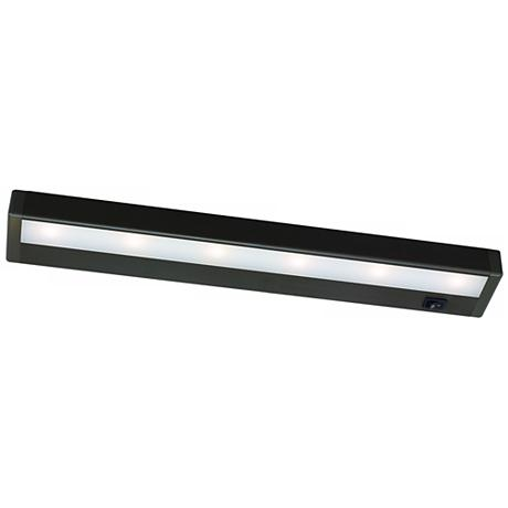 wac bronze led 18 inches wide under cabinet light bar. Black Bedroom Furniture Sets. Home Design Ideas