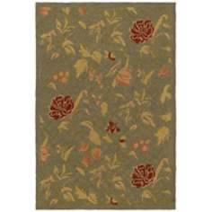 Richmond Hill Green Area Rug
