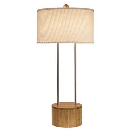 Thumprints Nandina Bamboo Table Lamp