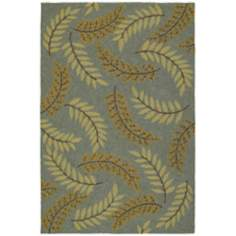 Home and Porch Whitemarsh Azure Area Rug