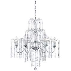 "Crystal Rain 29"" Wide 6-Light Crystal Chandelier"