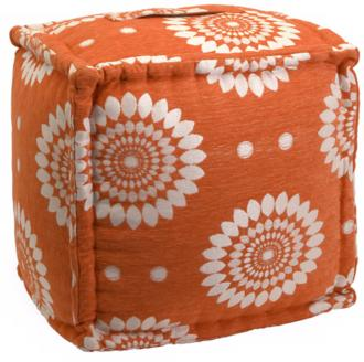 Orange Square Ottoman
