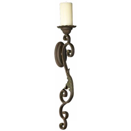 Valencia Iron Wall Sconce Candle Holder - #M7133 | LampsPlus.