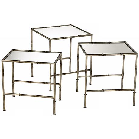 Iron Bamboo Set of 3 Nesting Tables