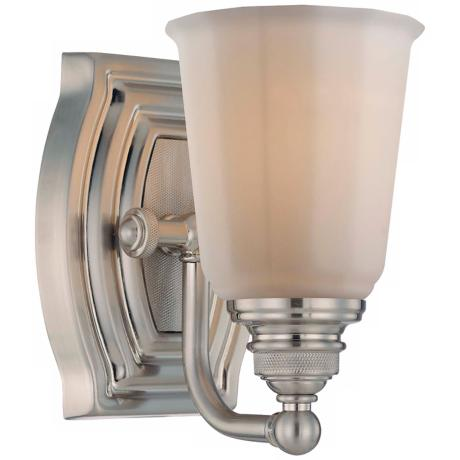 "Minka Clairemont Collection Nickel 7 1/4"" High Wall Sconce"