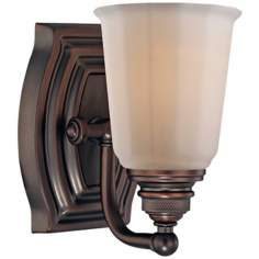 "Minka Clairemont Collection Bronze 7 1/4"" High Wall Sconce"