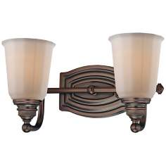 "Minka Clairemont Bronze 13"" Wide Bathroom Wall Light"
