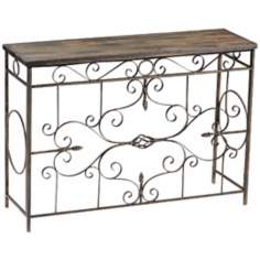 Schafer Iron Scroll Console Table