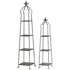 Blanca Set of 2 Etagere Style Decorative Shelves