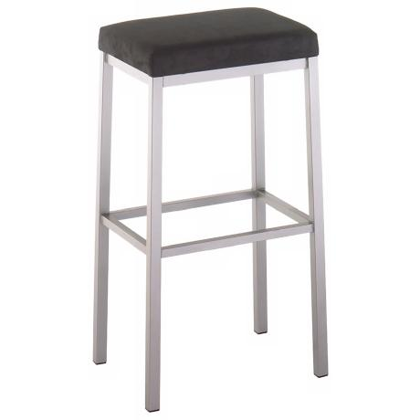 "Amisco Bradley Onyx 30"" High Backless Bar Stool"
