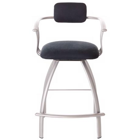 "Amisco Kris Onyx 24"" High Counter Stool"