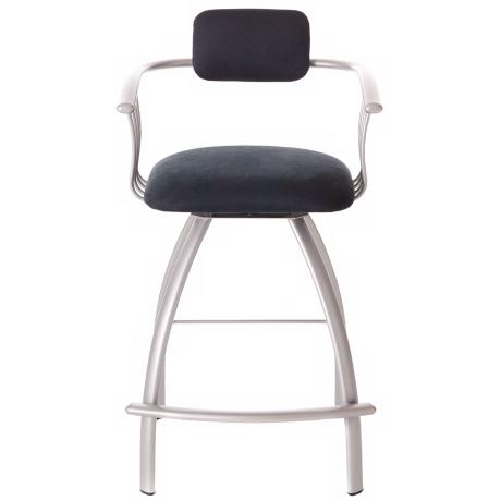 "Amisco Kris Onyx 30"" High Counter Stool"