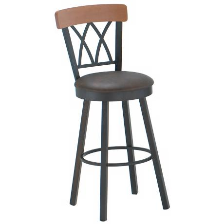 "Amisco Brittany Java 26"" High Swivel Counter Stool"