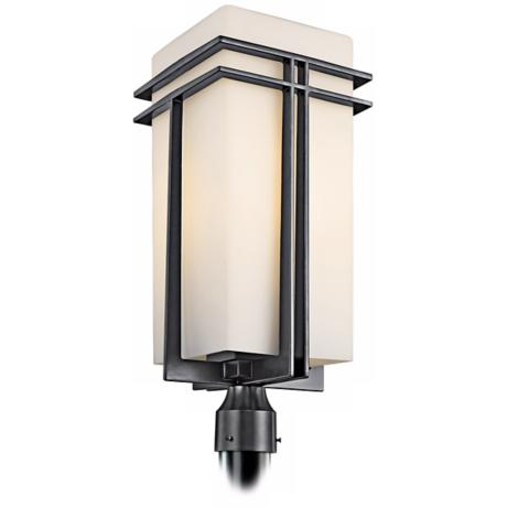 "Tremillo Collection Black 23"" High Outdoor Post Light"
