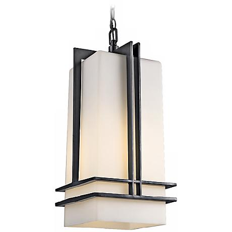 "Tremillo Collection Black 17"" High Outdoor Hanging Light"