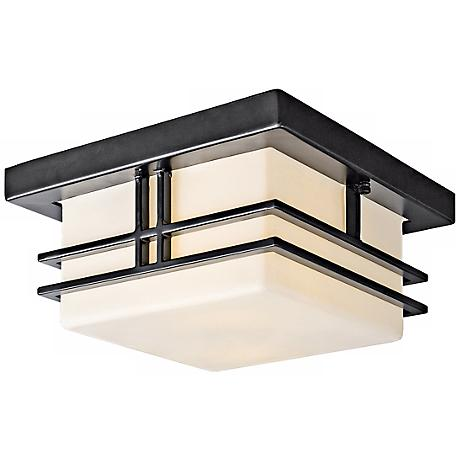 "Tremillo Black 11 1/2"" Wide Indoor - Outdoor Ceiling Light"