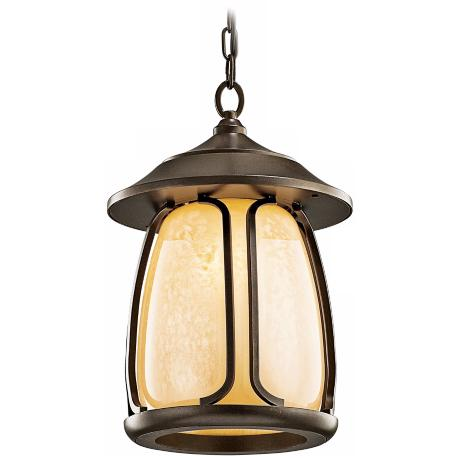 "Kichler Pasadena Bronze 16 1/2"" High Outdoor Hanging Light"